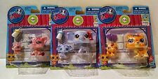 3 NEW LPS Pig, Elephant & Tiger Littlest Pet Shop Mommy and Baby Bobble InStyle