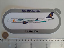 AUTOCOLLANT AIRBUS A330 300 IBERWORLD AIRLINES STICKER AUFKLEBER ESPAGNE SPAIN