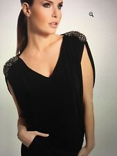 MARCIANO BY GUESS  KYLE SHOULDER-TRIMMED TOP SIZE  SMALL