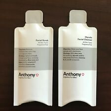 Anthony Logistics For Men ~ Glycolic Facial Cleanser + Scrub Samples / Travel Sz