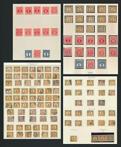 AUSTRIA BOSNIA STAMPS 1904-1918 POSTAGE DUES, INC Sc #J14/26 SET IMPERF & #J13g