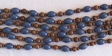 """16"""" Strand Blue Sponge Coral Round Oval Barrel & Wood Round Beads 6mm-17mm"""