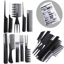 10pcs Salon Hair Styling Hairdressing Hairdresser Barbers Plastic Combs Set