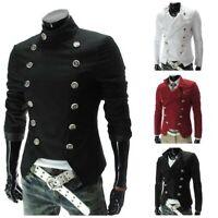 Baumwolle Herrenmode Jackett Anzug Clubwear Militärstil Windjacke Zweireiher Neu