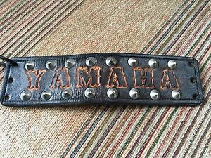 Yamaha - Studded leather wristband