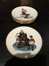 Lot Of 5 Gorman Fine China Norman Rockwell Danbury Mint Collectors Plates