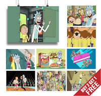 RICK AND MORTY A3 / A4 POSTER OPTIONS TV Show Cartoon Animation Series Print Art