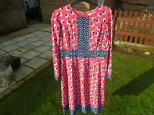 BODEN dress size 16 long Daisy Dress  pop peony clover colour W0028