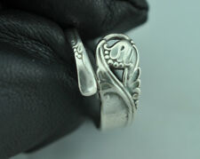 Beautiful 925 Sterling Silver Small Spring Glory Flower Spoon Ring