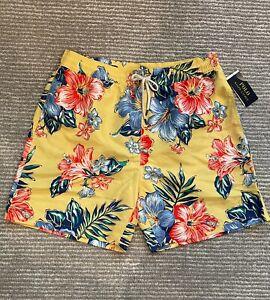 NWT Polo Ralph Lauren Men's Traveler Classic Swim Trunk Shorts Aloha Floral