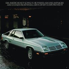 1981 Dodge 024 Brochure / Catalog with Color Chart : CHARGER 2.2, De Tomaso