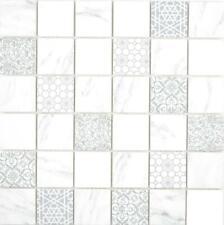 GLAS Mosaik ECO carrara Wand Boden Küche Dusche Fliesenspiegel |16-0202 10Matten
