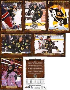 2015-16 UD Upper Deck Portfolio Boston Bruins Master Team Set RC's Wire (11)