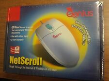 Genius Netscroll 3D Wheel Serial Mouse (DB9)-New Sealed