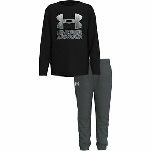 Under Armour Baby Boys 2 Pc Long Sleeve Shirt & Jogger Pant Set NWOT  24 Month