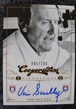 VIN SCULLY ON CARD BGS 9 MINT 10 AUTO #5/100 2012 PANINI COOPERSTOWN