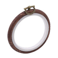 Embroidery Hoops Cross Stitch Hoop Ring Imitated Wood Circle Set Display Frame W
