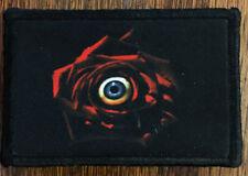 Eyeball Rose Morale Patch Horror Halloween Howl O Scream Busch Gardens