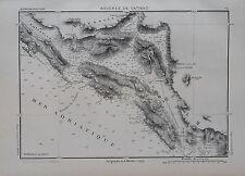 1884 Original Mappa Militare MARGA...COSTE - BOCCHE DEL CATTARO...DALMAZIA.