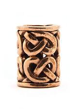 Kelt. Bartperle m Knotenmuster, Ø6mm Bronze Bartschmuck Vikings Wikinger Dreads