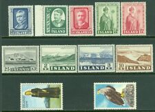 EDW1949SELL : ICELAND 1950-66 Nice collection of all VF MNH Cplt sets. Cat $151.