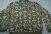 Vintage Loafers Reed St James Mens Regular Large L Gray Geometric Sweater A7071