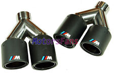 ///M SPORT Carbon Fiber Quad Exhaust Muffler Tips FOR BMW 1 3 5 7 series B348W
