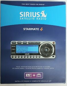 Sirius Starmate 4 XM Satellite Radio Receiver + Complete Vehicle Kit ST4TK1