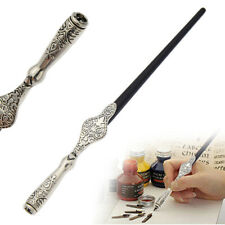 Antique Metal Dip Pen Nib Copperplate Holder English Calligraphy Writing Tool