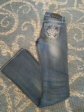 Soundgirl Junior womans Jeans Sz 1 Bootcut Embellished with bling, light wash