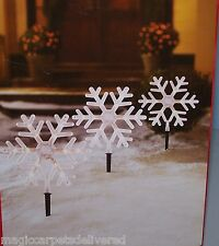"2 Boxes 10"" Snowflake Pathway Lights Path Lights 8 Lights total New"