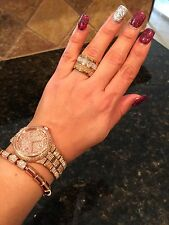 NWT Michael Kors MKJ1907 9317 Crystal Barrel Ring 7 BLING