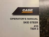 CASE Skid Steer 410 Tier3 Operator's  Manual