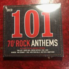 101 70s Rock Anthems (2017) 5 Cd Set (New) Thin Lizzy etc (Music Songs Hits) New