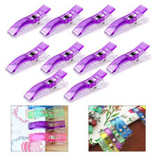 10x Plastic Clips Clamps Holder Fabric Sewing Quilting Binding Knitting Craft