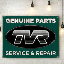 TVR Genuine Parts Metal Wall Sign Garage Cars Mens Gift 300x410mm 50157