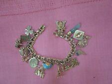 Charms Highlights Of A Life Estate Vintage 14K Gold Charm Bracelet With 16