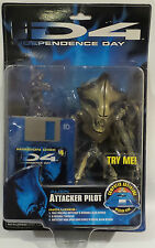 INDEPENDENCE DAY (ID4) : ALIEN ATTACKER PILOT CARDED ACTION FIGURE