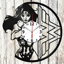 Wonder Woman Vinyl Wall Clock Made of Vinyl Record Original gift 2596