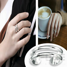 Adjustable High Class Knuckle Thumb Midi Ring 925 Sterling Silver Plated Jewelry