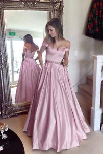 Damen Abendkleid Trägerlos Langgröße Ballkleid Partykleid Brautkleid Maxikleid