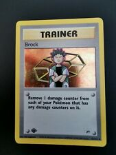 Brock 15/132 First Edition Holo Rare Gym Heroes 2000 Pokemon Card