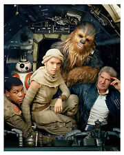 "-- STAR WARS -- The Force Awakens ""cast""- 8x10 Glossy Photo"