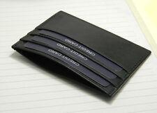 Real leather credit card holder oyster case slim mini Black ATM Pocket Pouch