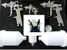 Lackierpistolen Koffer Set, 2 x HVLP,1x Lackierpistole 0,8mm+LACKIERMASKE Lack