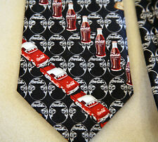 Coca Cola Bottle Novelty Neck Tie Necktie Blue Red Yellow Brown White Car Lamp