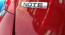 "NEW OEM NISSAN VERSA NOTE REAR EMBLEM ""NOTE"" IN CHROME"