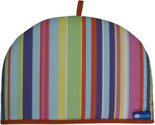 Rushbrookes Reversible Tea Cosy Barcode Bright and Blue 4 Cup