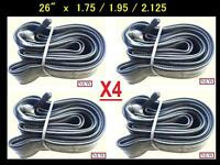 "26"" Bicycle Bike Cycle 26x1.75-2.125 Inner Tube New x4 Free Shipping"