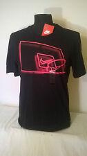 T-shirt uomo NIKE in cotone nera con simbolo da BASKET bellissima